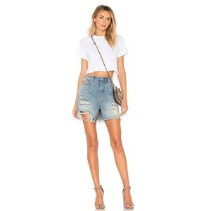 Free People We the Free Relaxed & Destroyed Skirt
